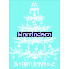 Stencil adesivo con Albero di Natale e scritta Merry Christmas adatto alle ns decorazioni
