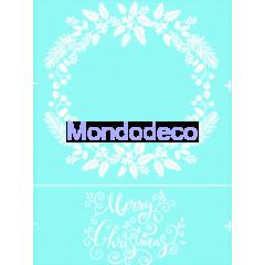 Stencil adesivo con scritta Merry Christmas e ghirlanda Natalizia adatta alle ns decorazioni