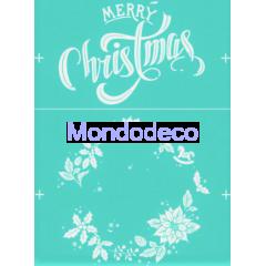 Stencil adesivo con scritta Merry Christmas e ghirlanda stella di Natale adatto alle ns decorazioni