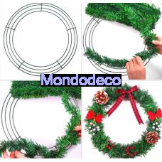 """Ghirlanda in metallo - wire wreath frame 12""""  adatto alle ns decorazioni"""