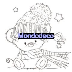 Timbro ad alta definizione con orso con cappello adatto alle ns creazioni