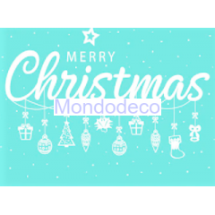 Stencil adesivo con scritta Merry Christmas adatto alle ns decorazioni