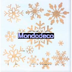 Stencil con fiocchi di neve adatto alle ns decorazioni
