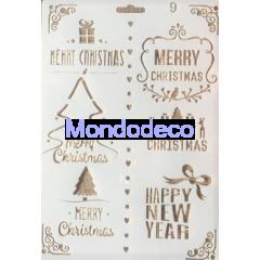 Stencil con scritta Merry Christmas e soggetti Natale adatto alle ns decorazioni