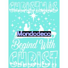 Stencil adesivo con scritta Merry Christmas e presepe adatto alle ns decorazioni