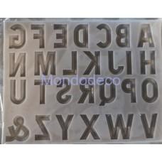 Stampo in silicone - Soggetti lettere 1- Stampo per Dolci - per gessetti - decorazioni
