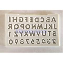 Stampo in silicone - Soggetti lettere - Stampo per Dolci - per gessetti - decorazioni