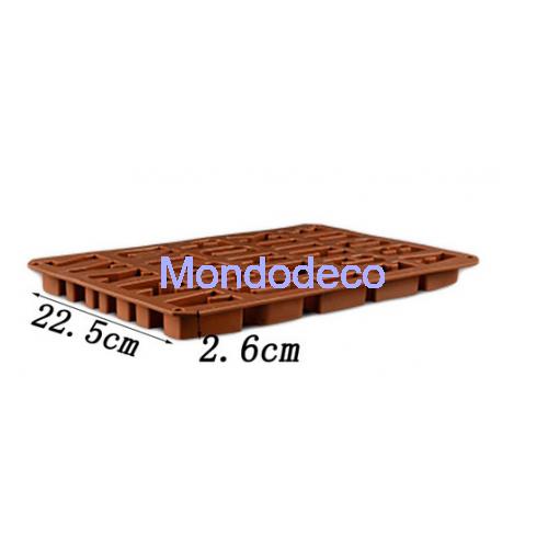 Stampo in silicone - Lettere dell'alfabeto Inglese Cioccolato 1 - Stampo per Dolci - per gessetti - decorazioni