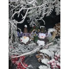 Legatovagliolo in resina Pupazzo di Neve