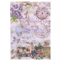 Carta di riso disegnata per decoupage  con texture fiori DIGITAL COLLECTION  DGR168