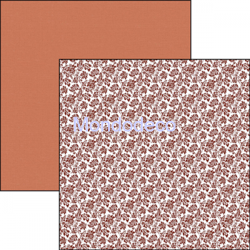 Blocco Carte Scrapbooking - Evergreen Classic Caramel Mocha Double-Sided Patterns CBTE002
