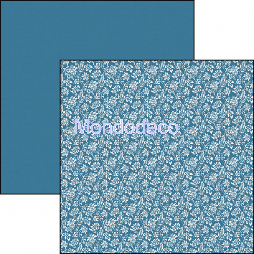 Blocco Carte Scrapbooking - Evergreen Classic Italian Blue Double-Sided Patterns BTE003