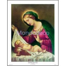 Stampa con raffigurazione Madonna del velo (Dolci)