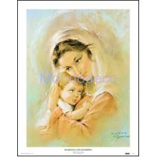 Stampa con raffigurazione Madonna con Bambino (C. Parisi)