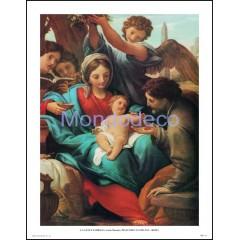 Stampa con raffigurazione La Santa Famiglia (Carlo Maratta)