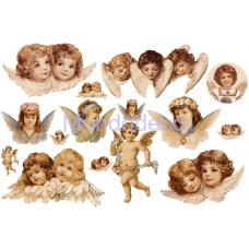 Carta per decoupage con putti