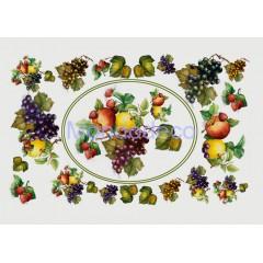 Carta per decoupage con frutta mista