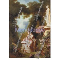 Carta per decoupage con Dama 800 - Evasioni - serie 1 cod. 1213
