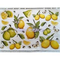 Carta per decoupage con limoni