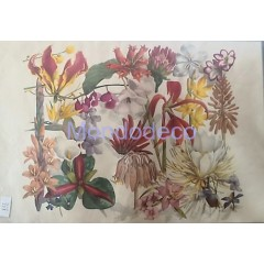 Carta per decoupage con fiori misti