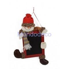 Lavagna country con pupazzo di neve adatta per le decorazioni