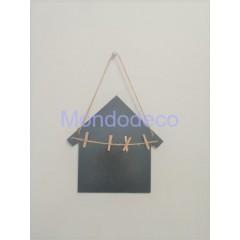 Lavagnetta Casetta con mollette  e cordino da appendere adatto alla decorazione