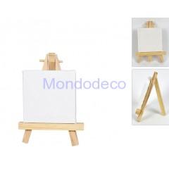 Mini Tela da pittore rettangolare con cavalletto adatta alla decorazione e al decoupage