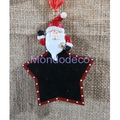 Lavagnetta  stella con Babbo Natale adatta alla decorazione