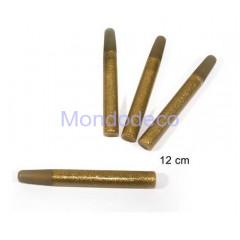 Confezione da 4 colle glitter in tubetti color oro