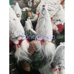 Gnomo di Natale con cappello in pelliccia FEMMINA adatto alle decorazioni