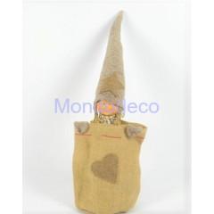 Ferma Porta - Bambola gnoma sacco color marrone adatto alle decorazioni