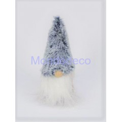 Gnomo di Natale con cappello in pelliccia MASCHIO adatto alle decorazioni