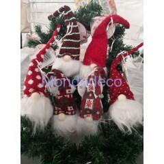 Babbo Natale nordico da appendere con luce adatto alle decorazioni