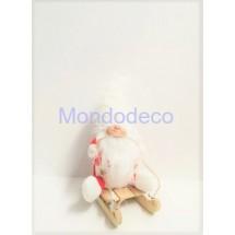 Gnomo - Elfo di Natale su slittino - Maschio - adatto alle decorazioni