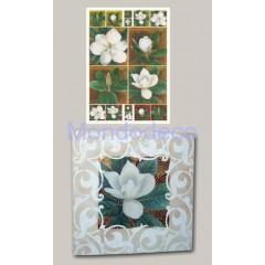 Carta per decoupage classica con magnolia