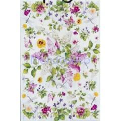 Carta per decoupage classica con fiori misti
