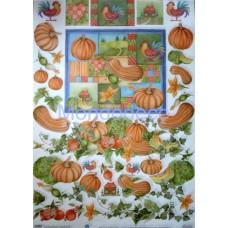 Carta per decoupage classica con verdure