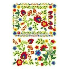 Carta per decoupage classica con fiori annia '70