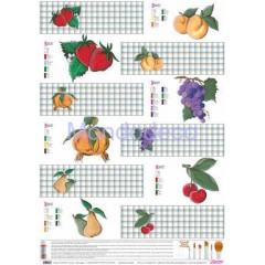 Carta per decoupage classica con verdura country