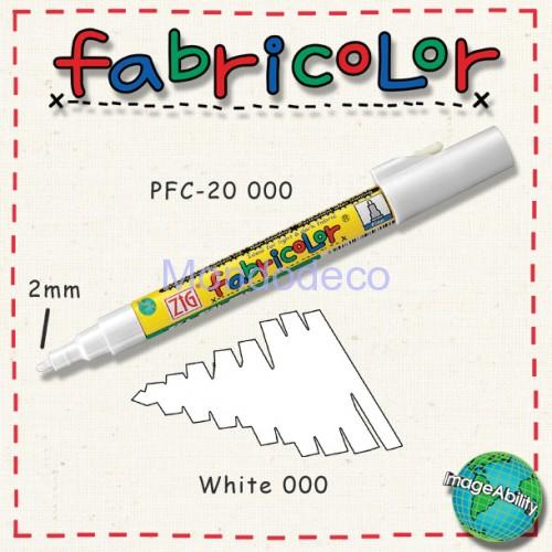 Zig Fabricolor - Pennarello bianco per stoffa e legno color bianco