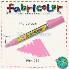 Zig Fabricolor - Pennarello bianco per stoffa e legno color rosa