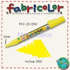 Zig Fabricolor - Pennarello bianco per stoffa e legno color giallo