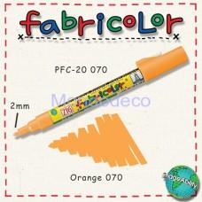 Zig Fabricolor - Pennarello bianco per stoffa e legno color arancio
