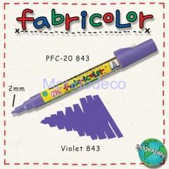 Zig Fabricolor - Pennarello bianco per stoffa e legno color viola
