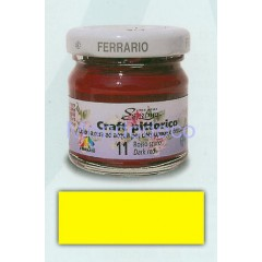 Craft pittorico - colore a cera ad acqua per decoupage color giallo limone 07