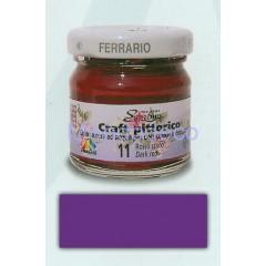 Craft pittorico - colore a cera ad acqua per decoupage color violetto 12