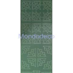 Etichette adesive e decorative con stelline effetto velluto color verde