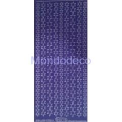 Etichette adesive e decorative con stelline effetto velluto color blu