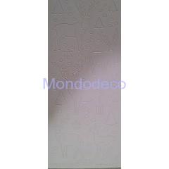 Etichette adesive e decorative con cerbiatti e fiocchi di neve effetto velluto color bianco