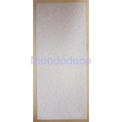 Etichette adesive e decorative con fiori effetto velluto color bianco